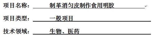 食用明胶项目资金申请报告 山东济南可行性报告